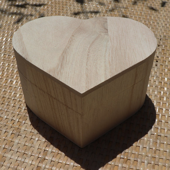 Heart Shaped Cedar Finish Wooden Gift Box