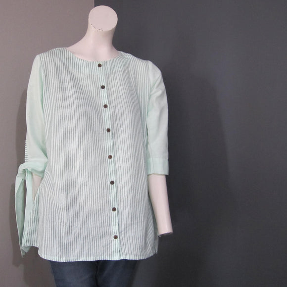 Women Cotton Dark Green Lining Top