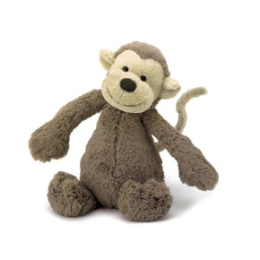 Abe fra jellycat - BAS3MK - Medium Bashful Monkey.
