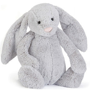 Kanin fra Jellycat - BARB1BS Really Big Bashful Silver bunny.