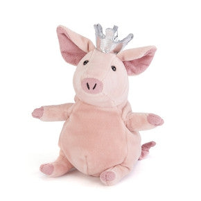 Gris med krone fra Jellycat - PET6SP Little Petronella the Pig Princess.