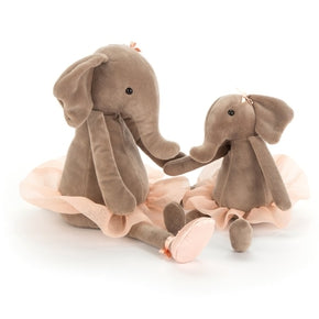 Elefant, lille fra Jellycat - DDS6E  Dancing Darcey Elephant Small