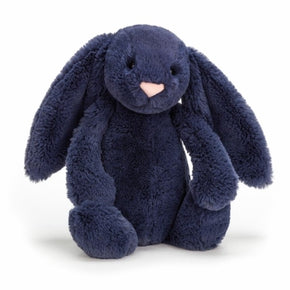 Kanin fra Jellycat - BAS3NB - Bashful Navy Bunny Medium.