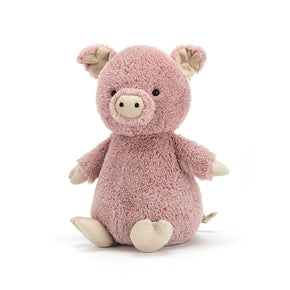 Gris fra Jellycat - PNS6PG - Peanut Pig Small.