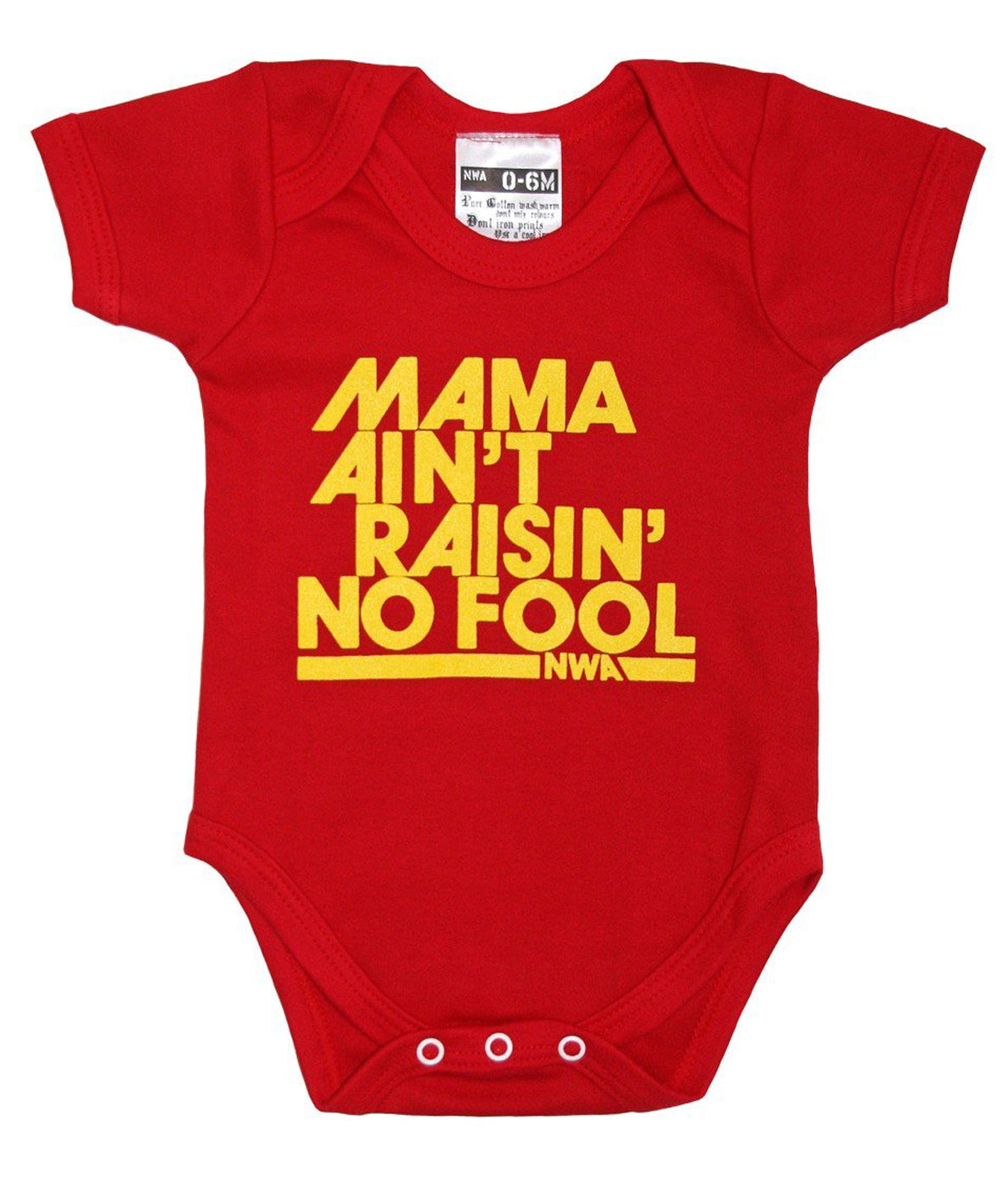 MAMA AIN'T RAISIN NO FOOL RED BABYGROW