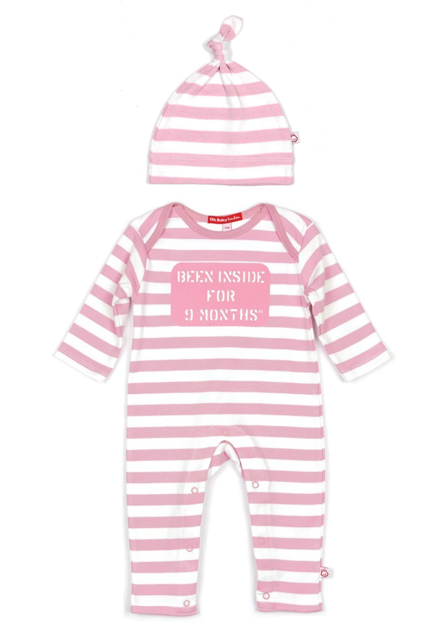 ORGANIC BEEN INSIDE FOR 9 MONTHS PLAYSUIT & HAT GIFT SET