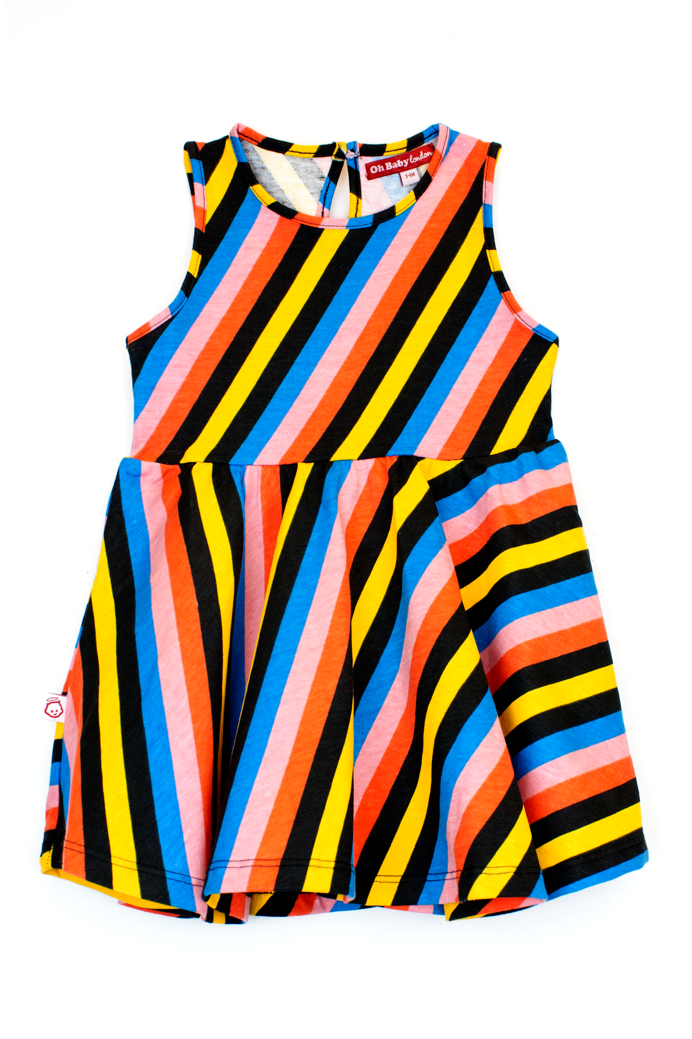 MULTI SLEEVELESS SKATER DRESS
