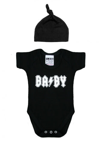 BA/BY BABYGROW & HAT SET