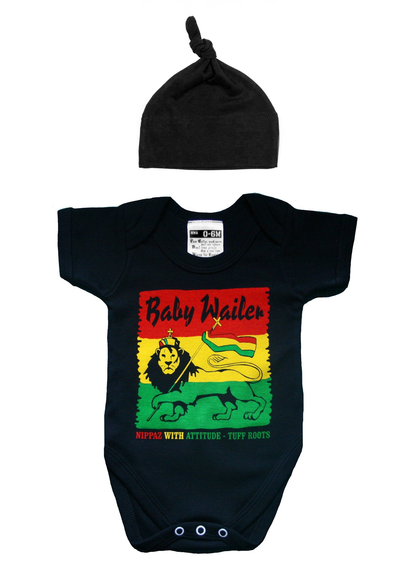 BABY WAILER TUFF ROOTS BABYGROW & HAT SET