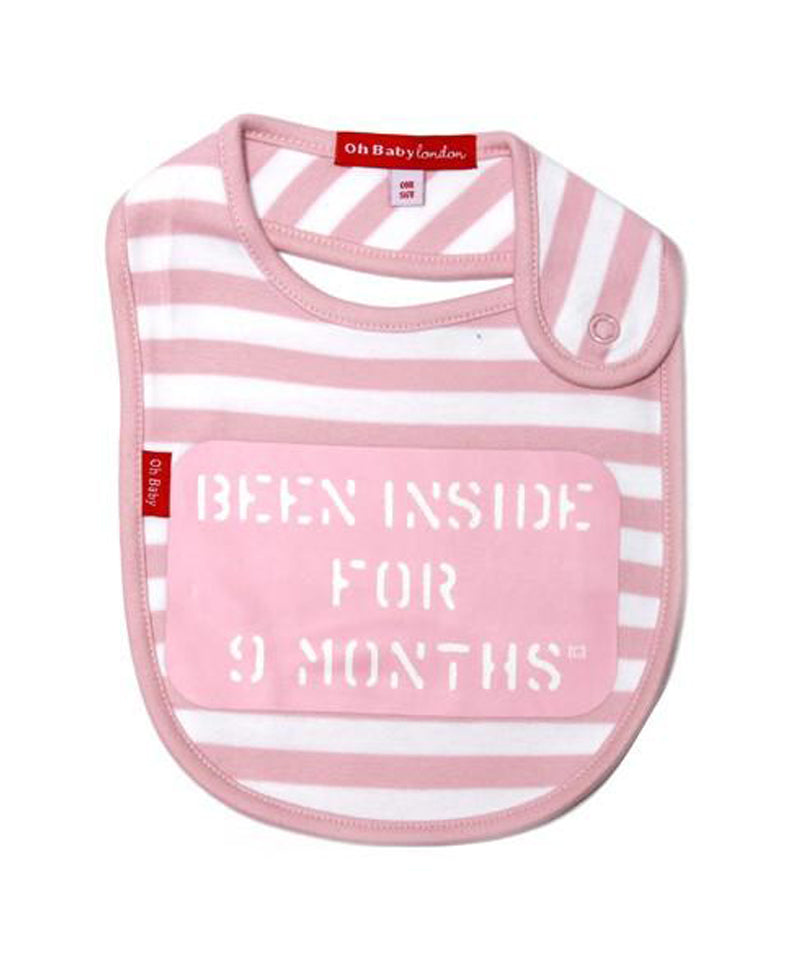 ORGANIC PINK BEEN INSIDE FOR 9 MONTHS BABY BIB