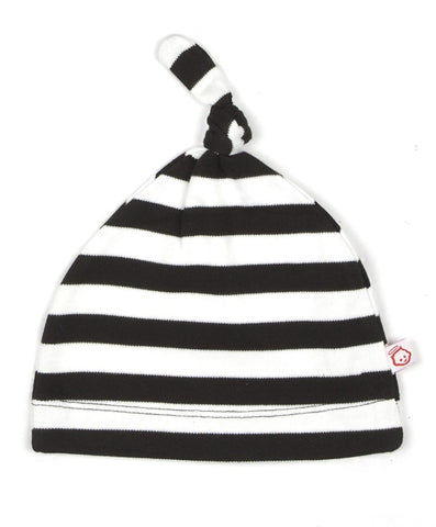 BLACK AND WHITE KNOT HAT