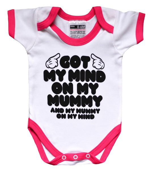 GOT MY MIND ON MY MUMMY BODYSUIT & TRAINER SOCKS SET