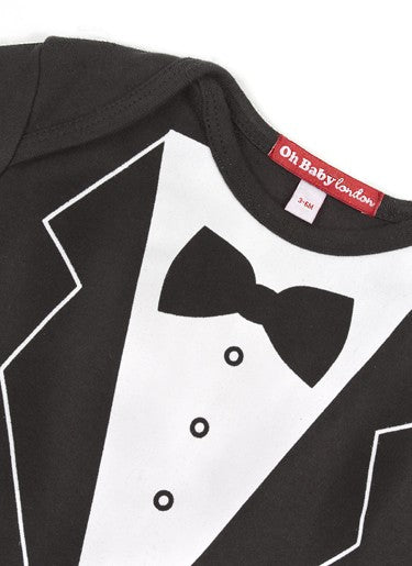 TUXEDO PRINT LONG SLEEVED T-SHIRT
