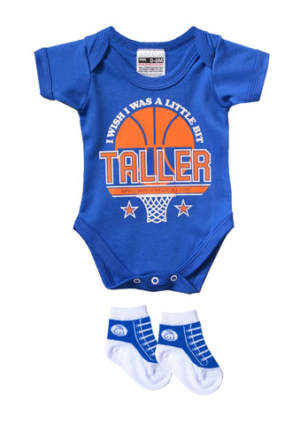 I WISH I WAS A LITTLE BIT TALLER BABYGROW & TRAINER SOCKS