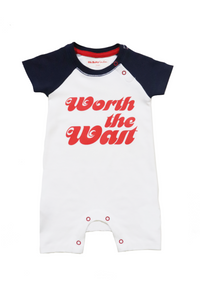 ORGANIC WORTH THE WAIT BASEBALL PLAYSUIT