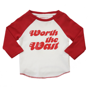 ORGANIC WORTH THE WAIT BASEBALL TEE