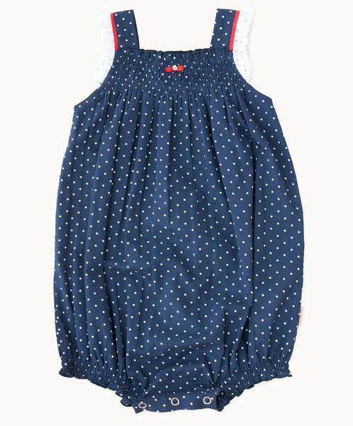 Betty Blue Cotton Romper