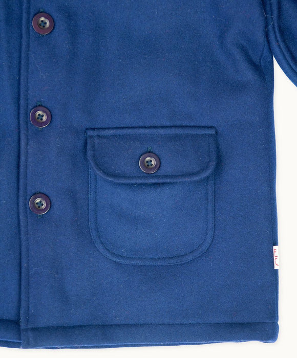 Navy Wool Winter Coat