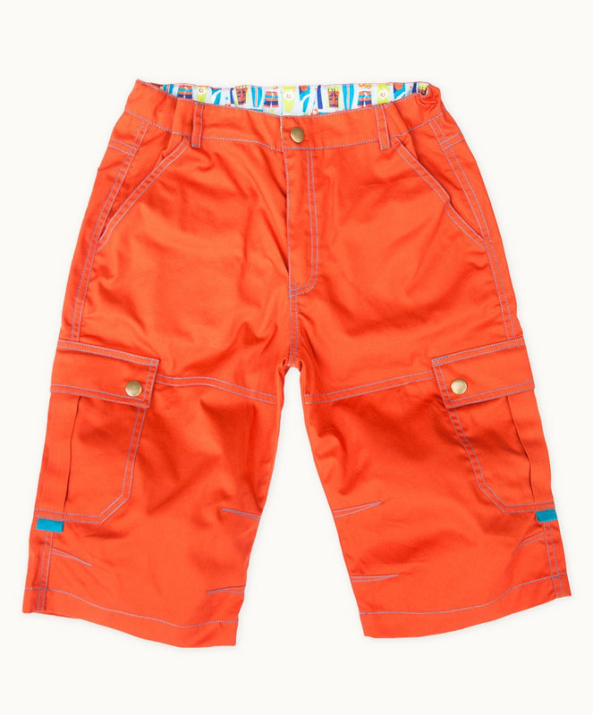 Burnt Orange Twill Summer Shorts