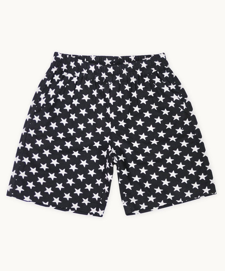 Black Star Cotton Shorts