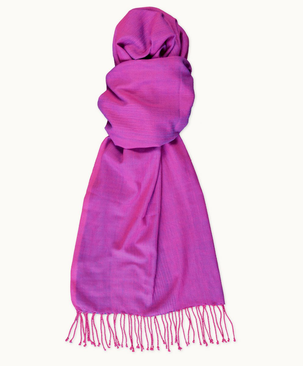 Fuschia Freeset Scarf - Fair Trade Clothing | Ethical Clothing | Visible Clothing