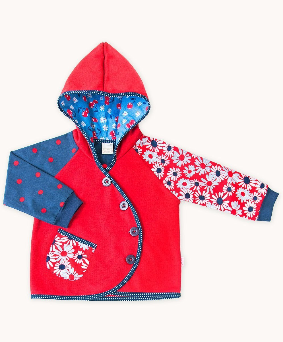 Red Fleece French Daisy Jacket - Fair Trade Clothing | Ethical Clothing | Visible Clothing