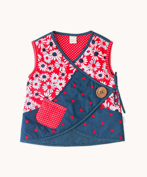 French Daisy Side Button Vest