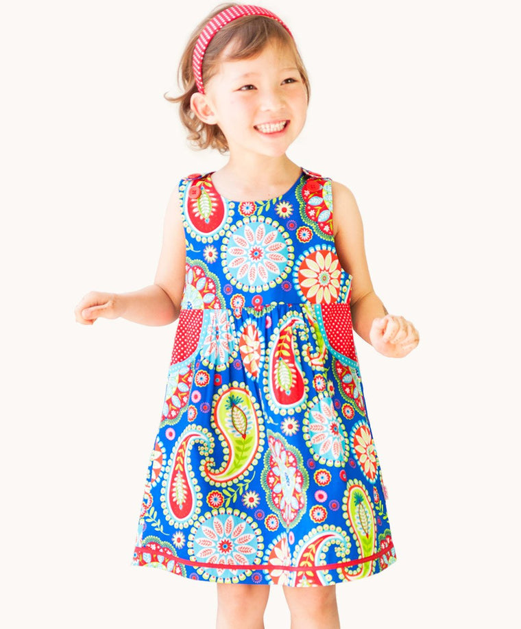 Blue Carnival Pocket Dress