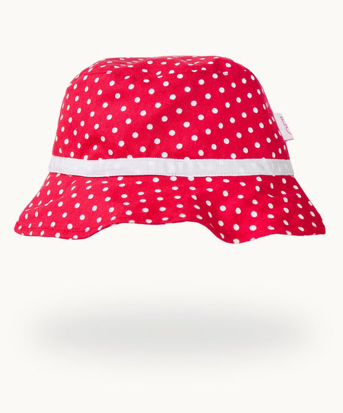 Cotton Sunhat - Red Polkadot