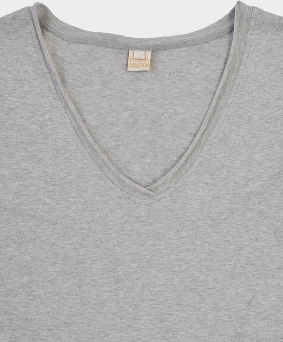 Loose Grey V Neck Tee