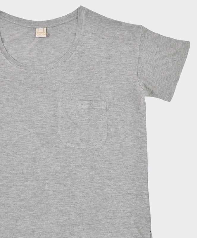 Jessica Grey Pocket Tee, Eternal - Visible.Clothing