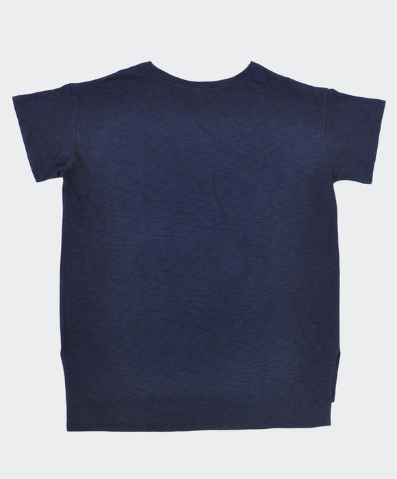 Navy Slub Cotton T-Shirt
