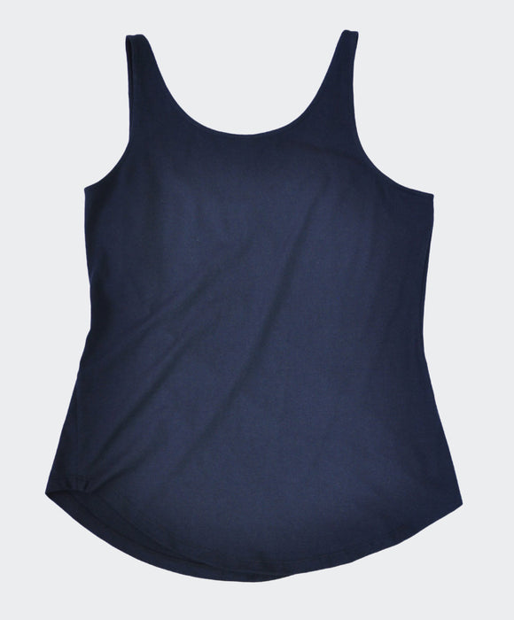 Awesome Navy Lycra Cotton Top - Fair Trade Clothing | Ethical Clothing | Visible Clothing