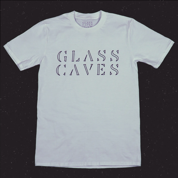 Glass Caves White Logo Tee