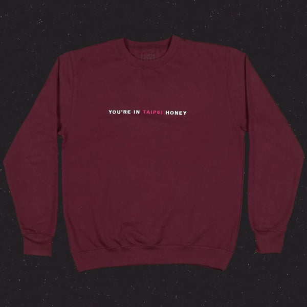 'You're in Taipei Honey' Embroidered Sweater