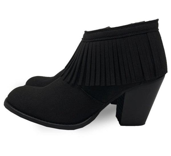 2 IN 1 FRINGE BOOTS