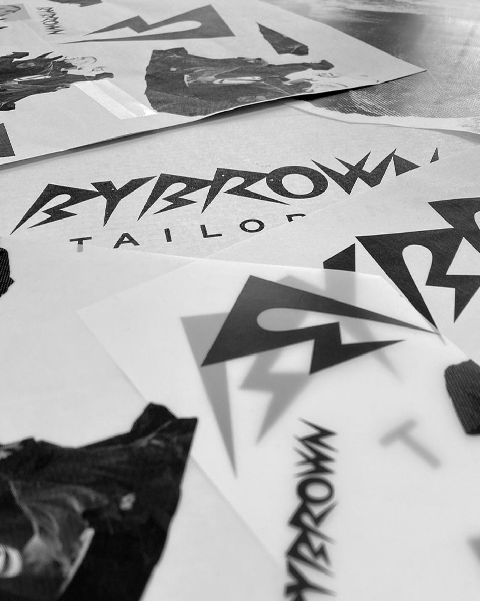 bybrown logo and iconic b, graphic design