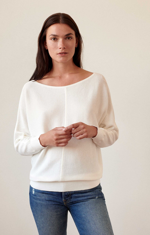 White & Warren Textured Off The Shoulder Top