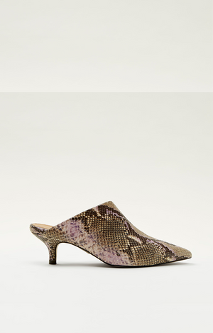 Christy Rose Snake Print Mule