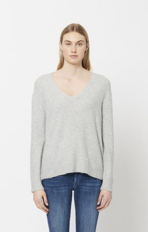 Georgia Knit Sweater - Heather Grey