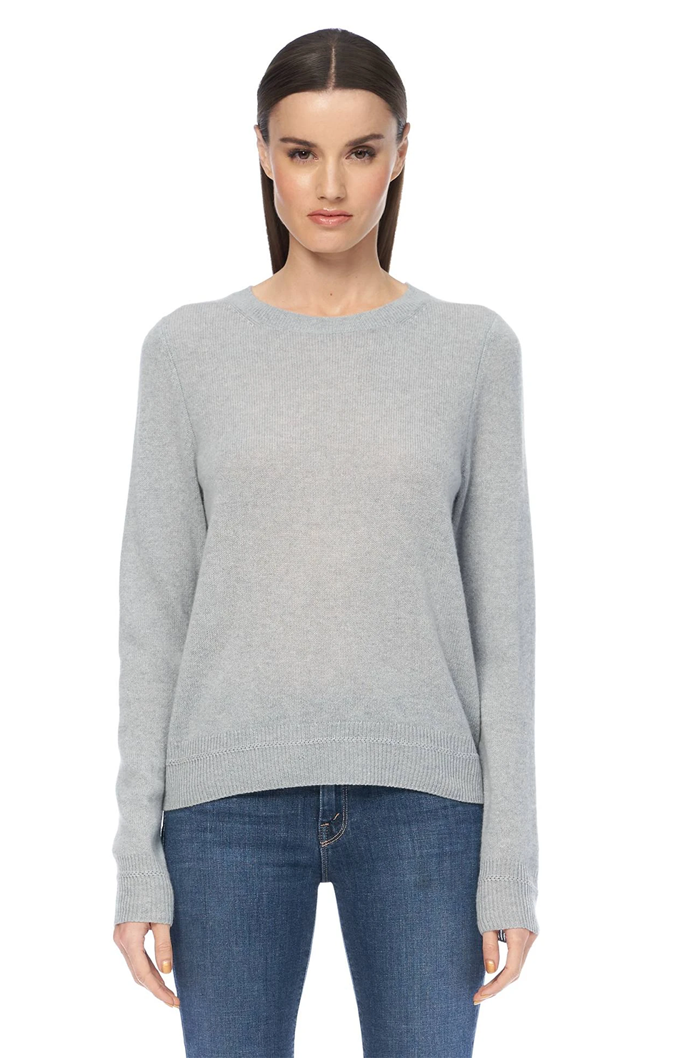 Leila Cashmere Pullover - Misty Blue