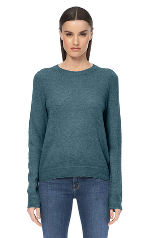 Leila Cashmere Pullover - Teal