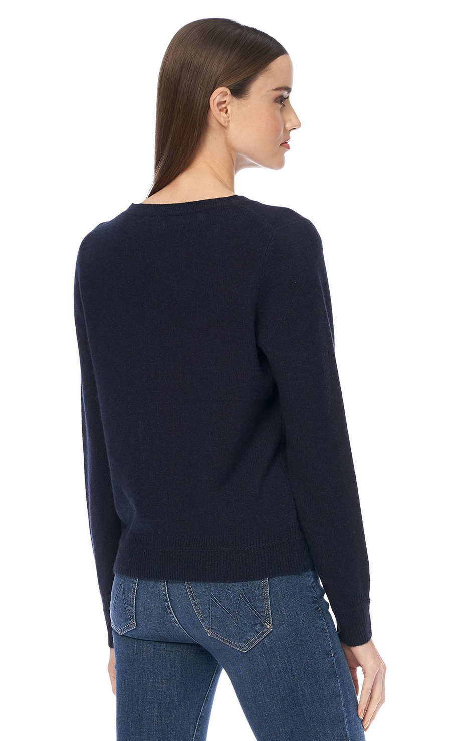 Leila Cashmere Pullover - Navy