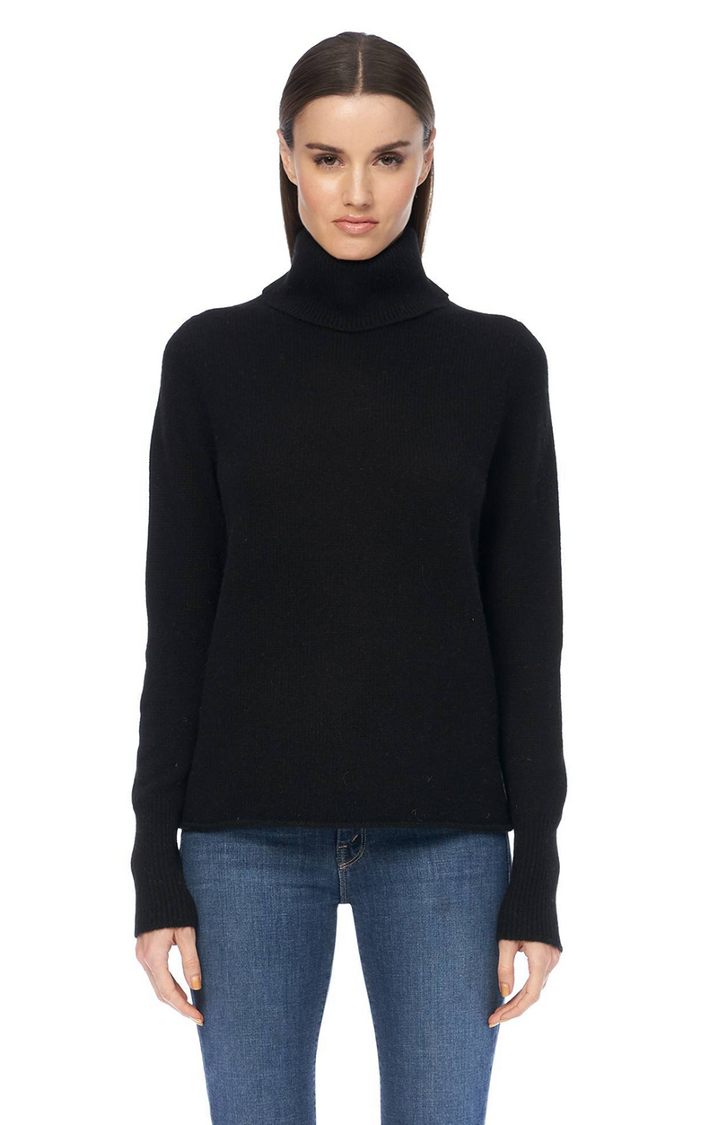 Poppi Cashmere Turtleneck - Black