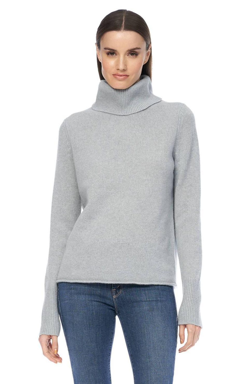 Poppi Cashmere Turtleneck - Misty Blue