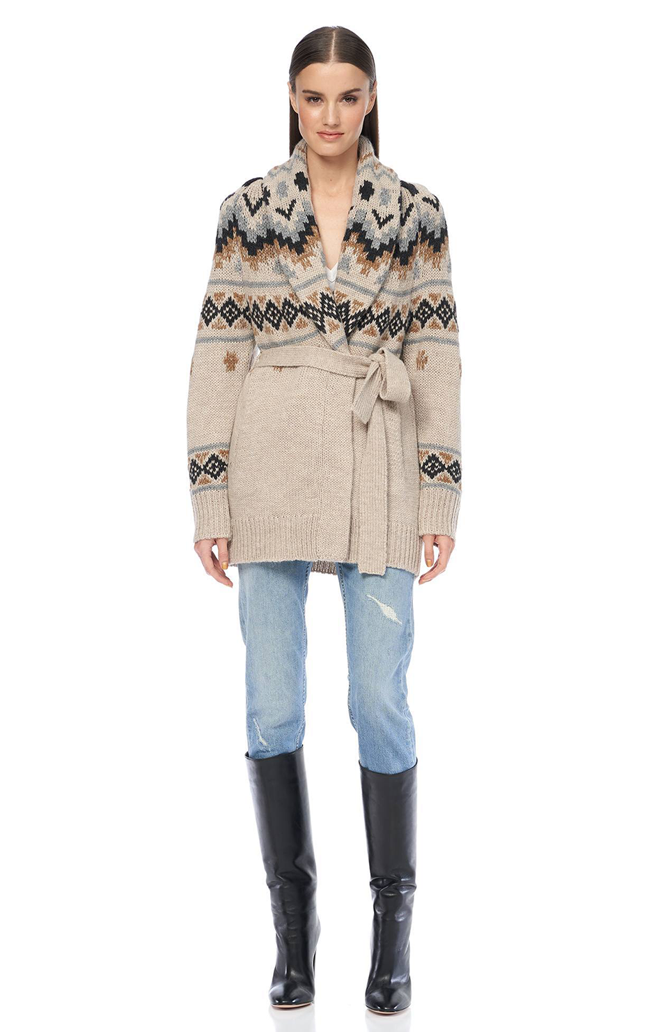 Ratchell Cardigan - Sand/Multi