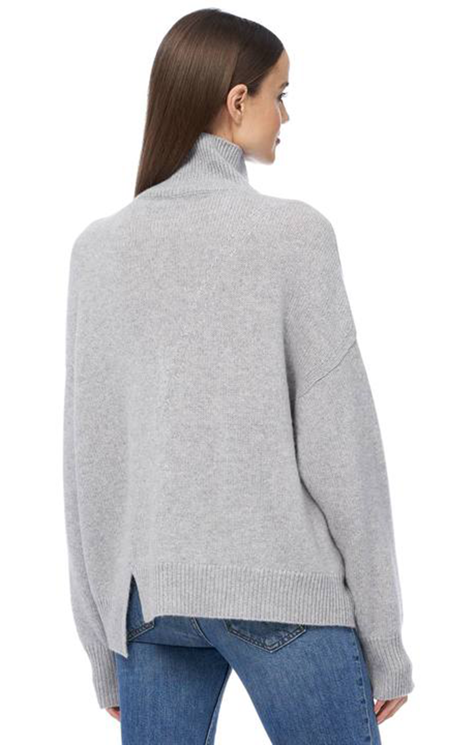 360 Cashmere Leia Sweater Light Heather Grey