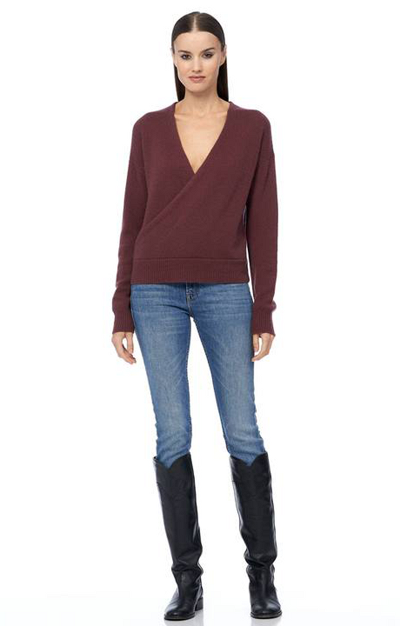 360 Cashmere Cassian Sweater Malbec