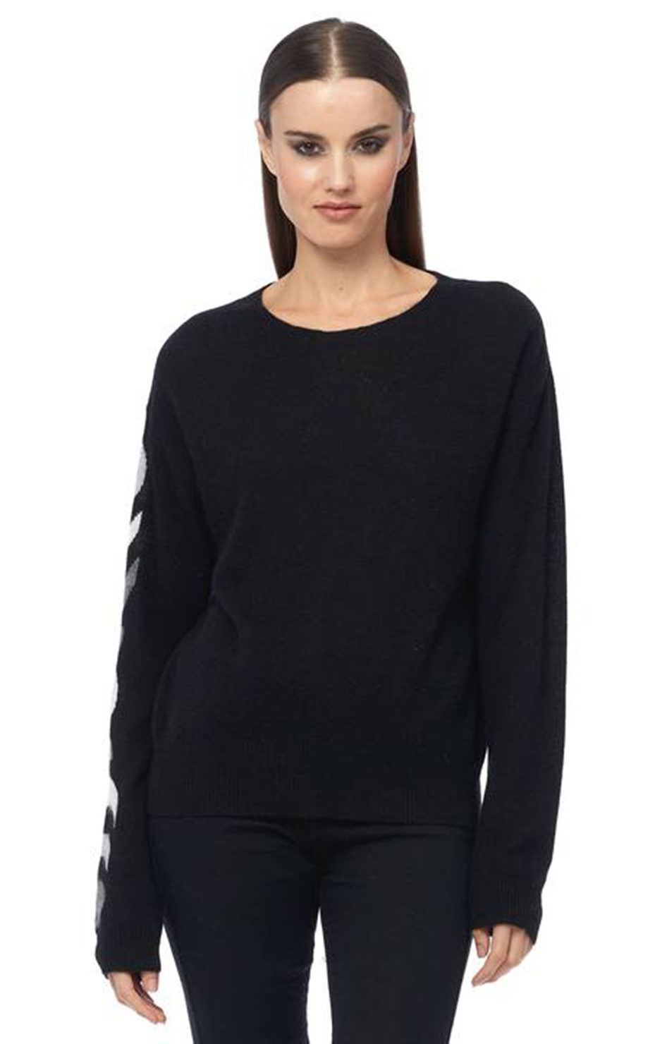 360 Cashmere Luna Sweater Black/Grey