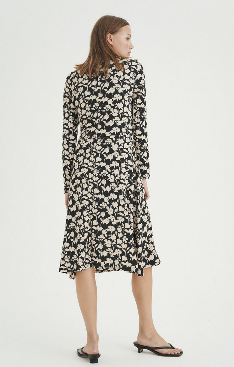 Henry Dress - Black Flower